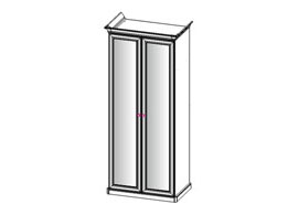 Афина шкаф 2-х дверный с 2 зеркалами
