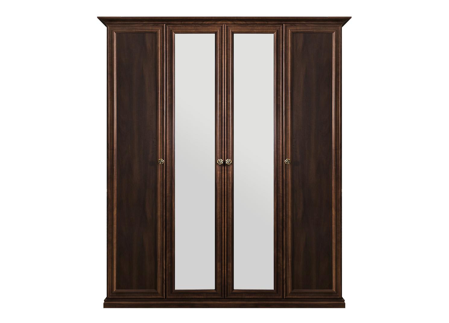 Афина шкаф 4-х дверный (2+2) с 2 зеркалами