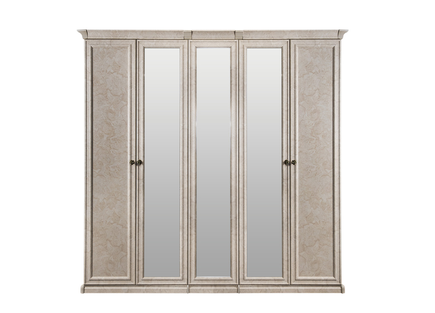 Афина шкаф 5-дверный (2+1+2) с 3 зеркалами