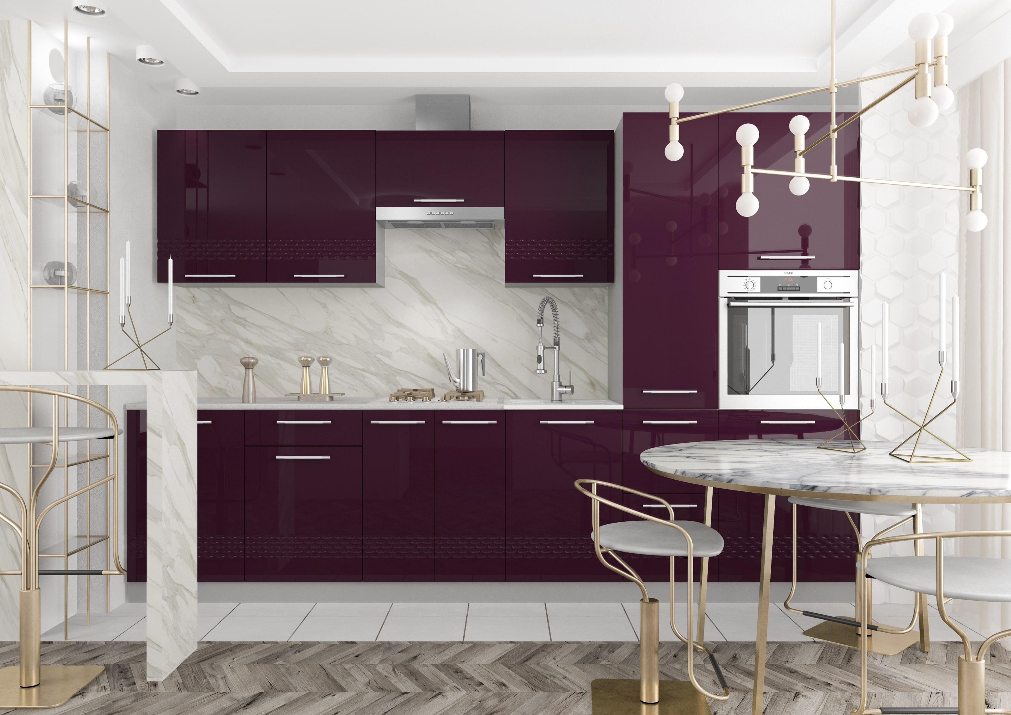 Кухня Капля 3D П 500 Шкаф верхний петли слева