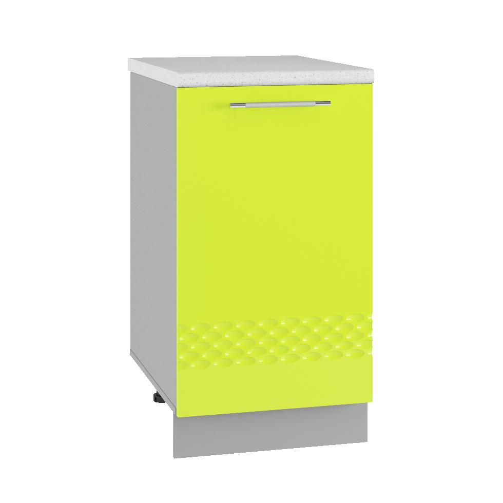 Кухня Капля 3D МС 400 Шкаф нижний глубина 330 петли слева