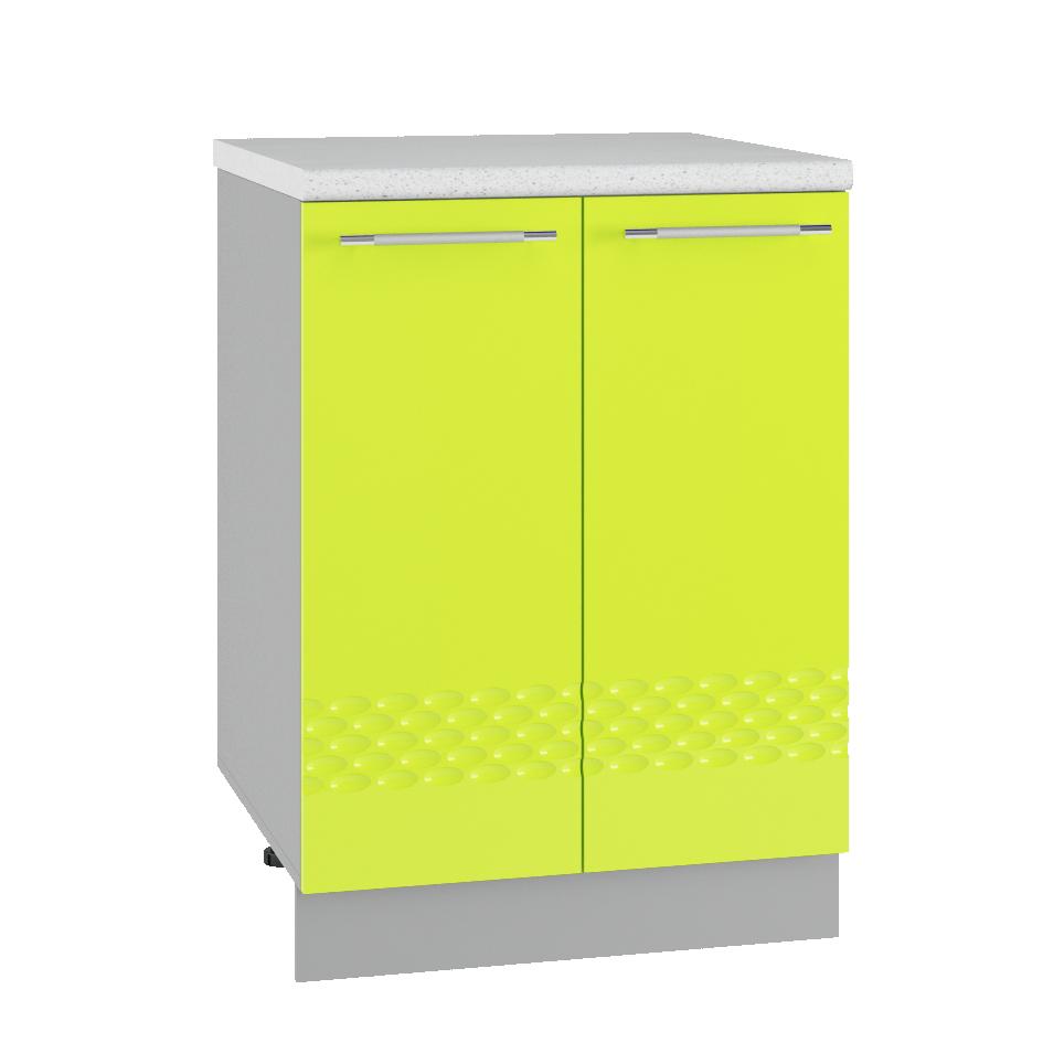 Кухня Капля 3D МС 600 Шкаф нижний глубина 330