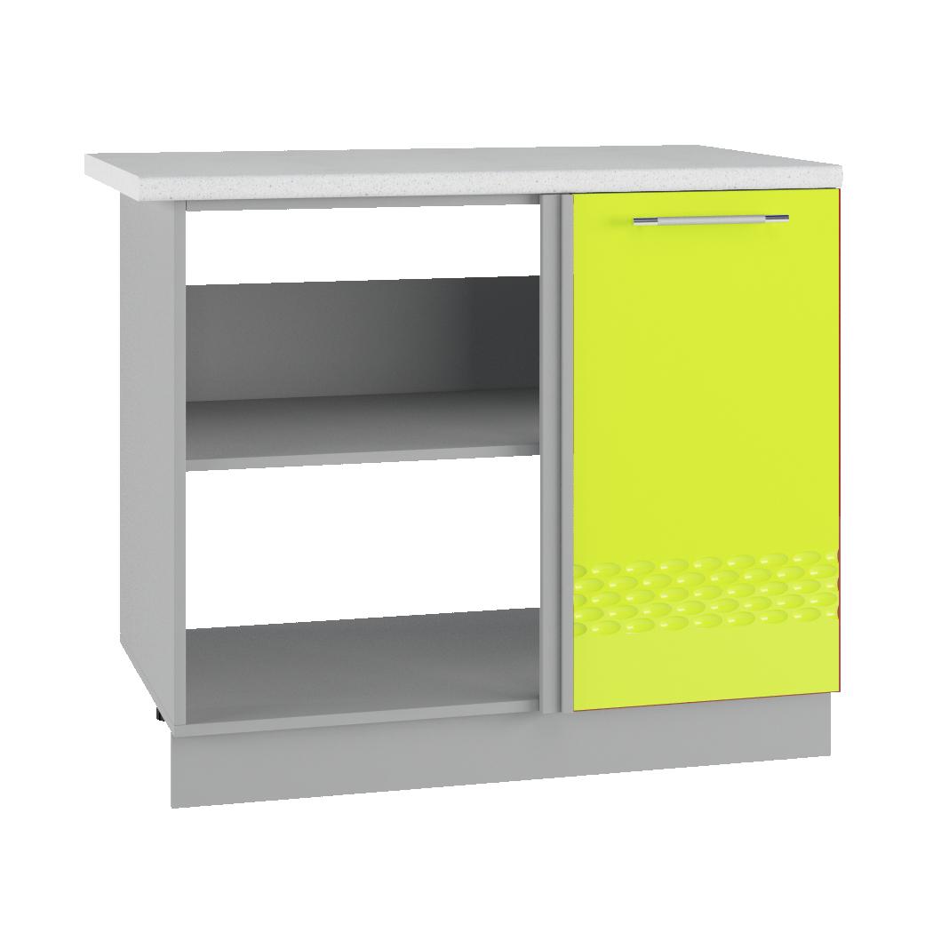 Кухня Капля 3D МСУ 1000 Шкаф нижний глубина 330 петли справа