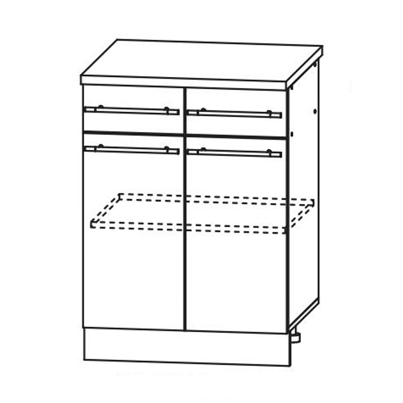 Кухня Кантри Стол СТР 600/1 с ящиком