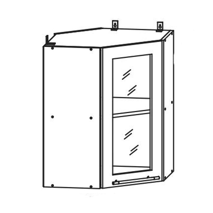 Кухня Кантри Шкаф верхний ШКН 600 УТ В угловой стекло