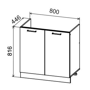 Кухня Дуся ДСМ 800 Шкаф нижний под мойку