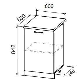 Кухня Дуся ДС 601 Шкаф нижний