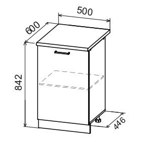Кухня Дуся ДС 500 Шкаф нижний