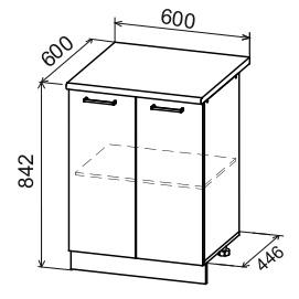 Кухня Дуся ДС 600 Шкаф нижний