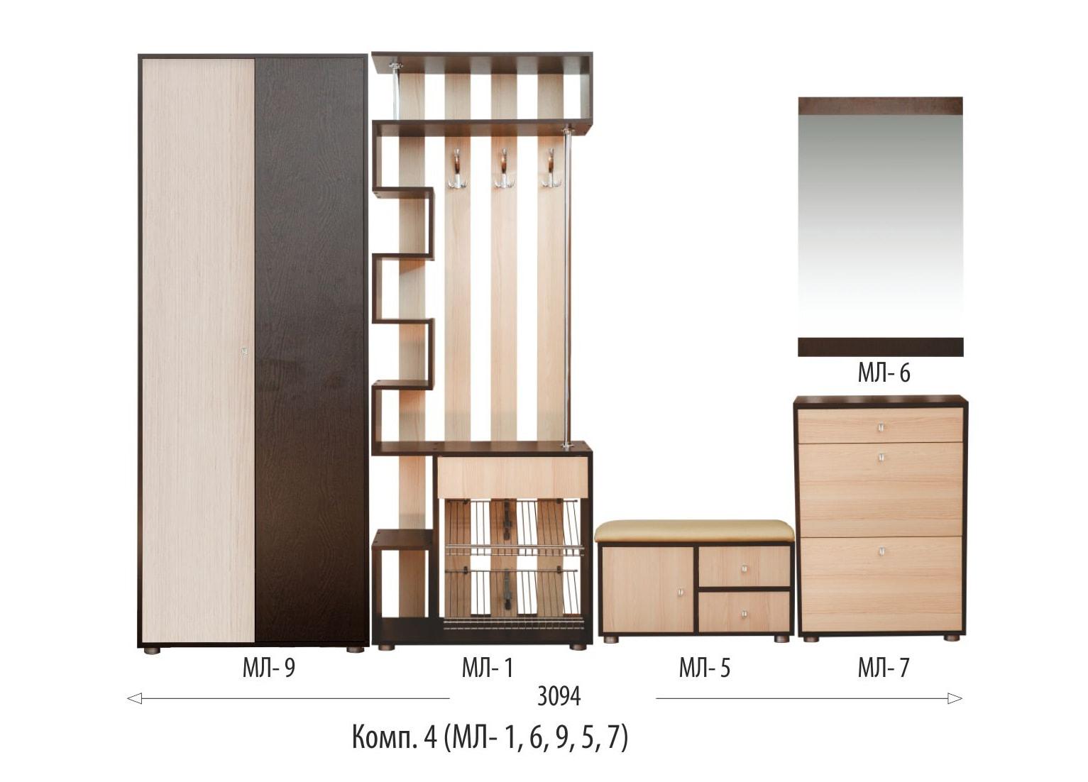 Прихожая Мини-Лайт МЛ-9 Шкаф
