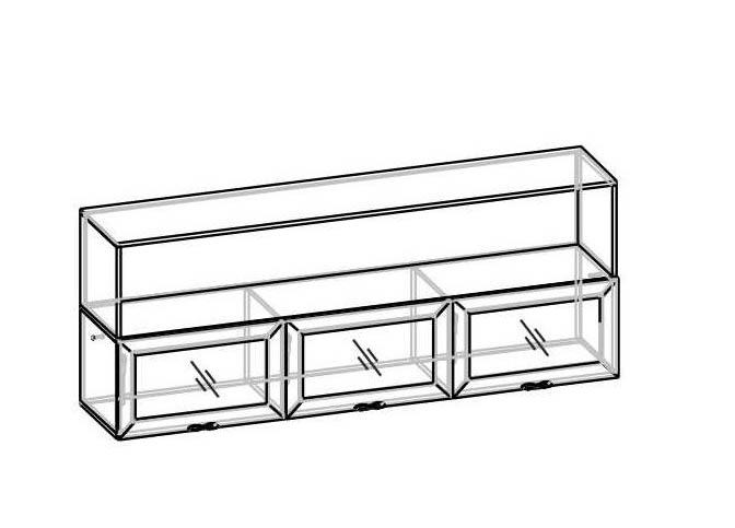 Гостиная Калипсо Г-360-АН-13С Полка-навесная стекло