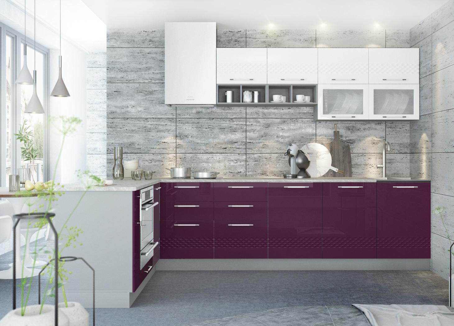 Кухня Капля 3D 3100*1800