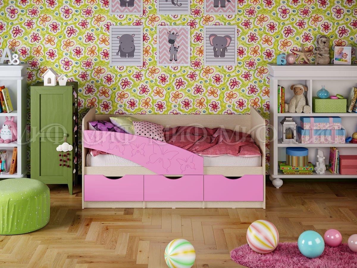 Кровать Бабочки 1 1,8*0,8 матовый