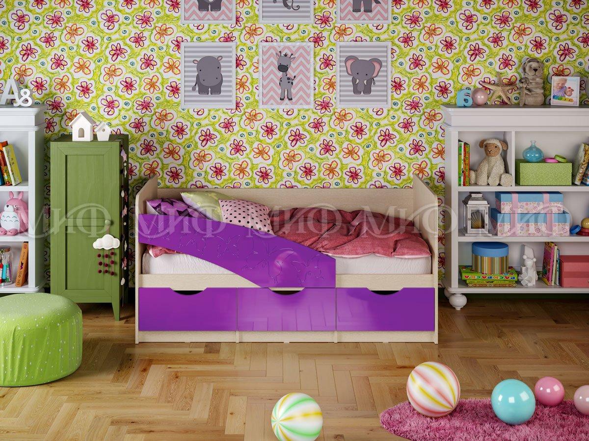 Кровать Бабочки 1,6 глянцевый