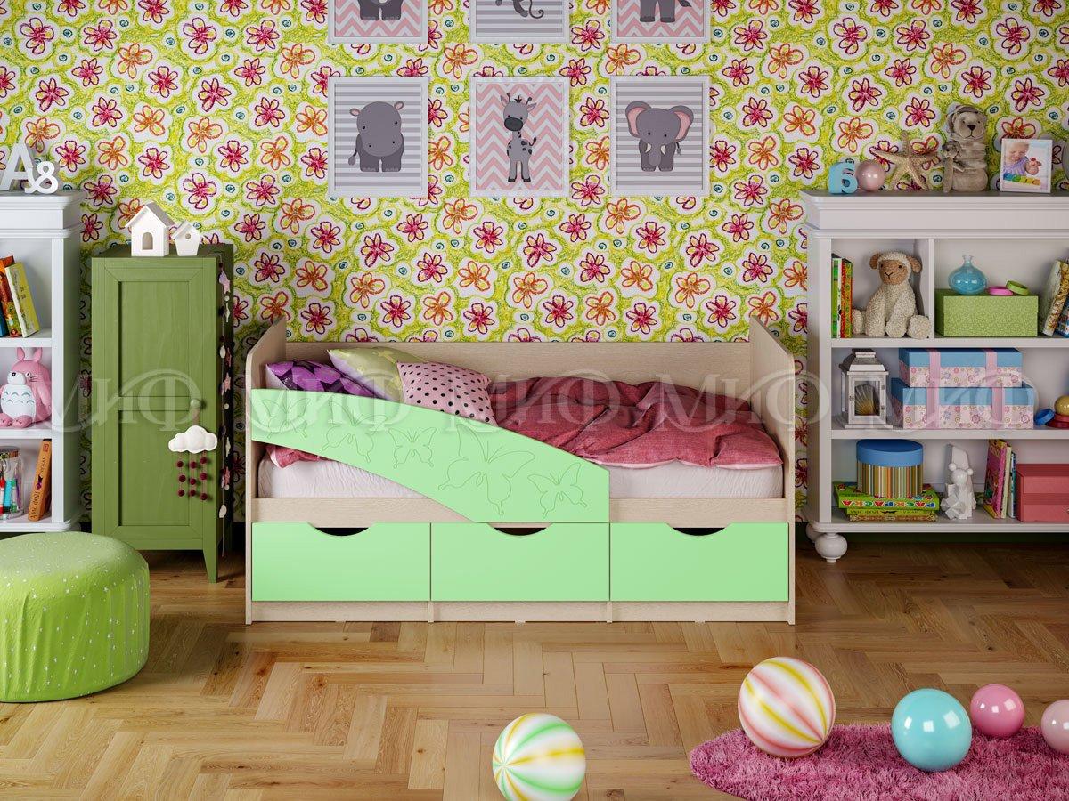 Кровать Бабочки 2,0*0,8 матовый