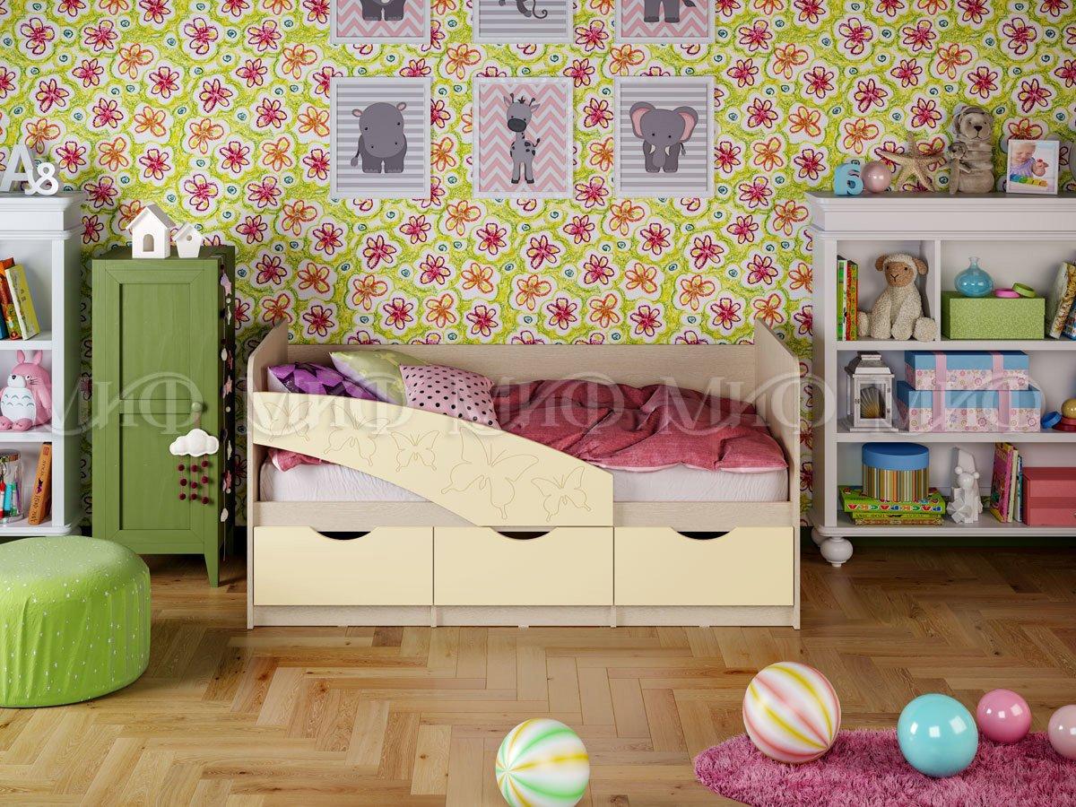 Кровать Бабочки 1,6*0,8  матовый