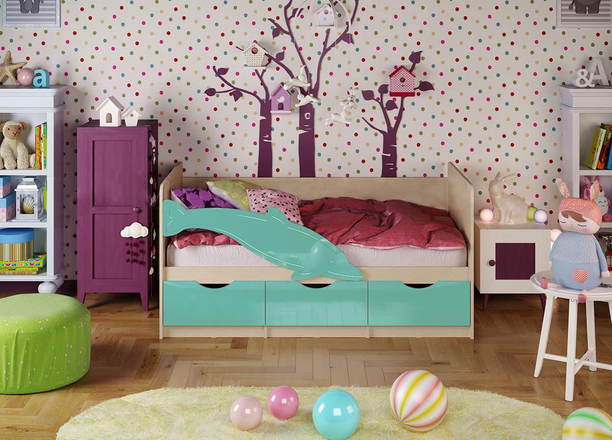 Кровать Дельфин 1 1,6*0,8 металлик