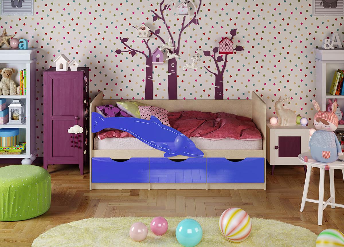 Кровать Дельфин 1 1,8*0,8 металлик