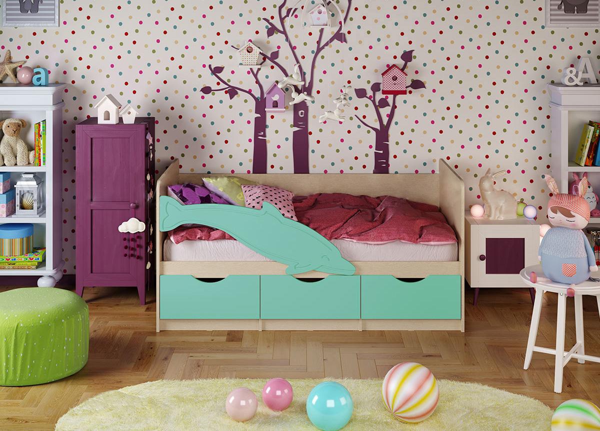Кровать Дельфин 1 1,6*0,8 матовый