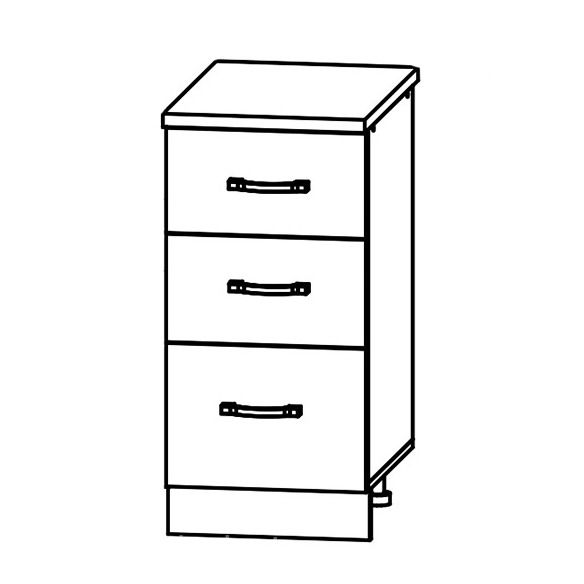 Кухня Лофт СЯ 400 Шкаф нижний с 3 ящиками