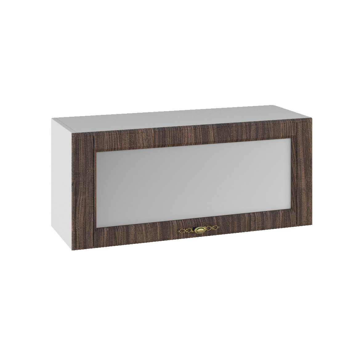 Кухня Империя ПГС 800 Шкаф верхний горизонтальный, стекло