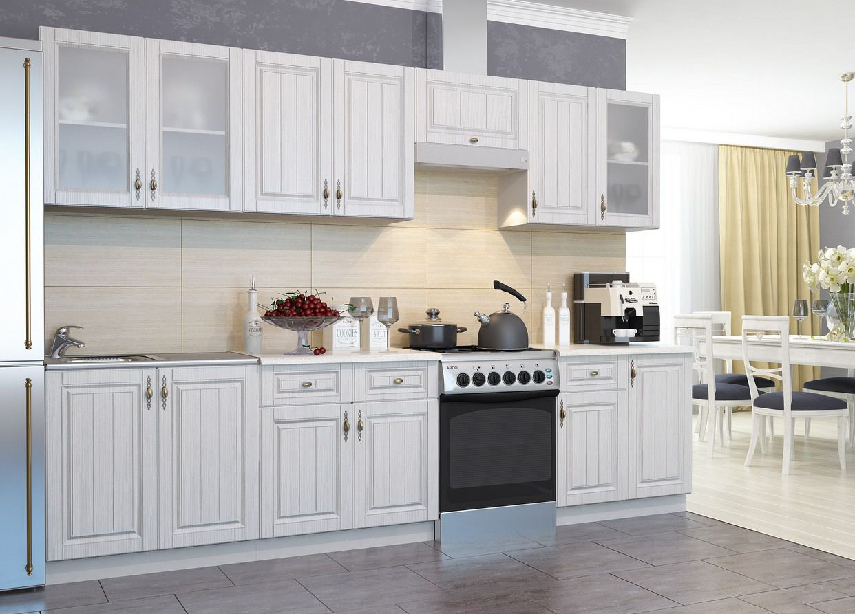 Кухня Империя ПГС 600 Шкаф верхний горизонтальный, стекло