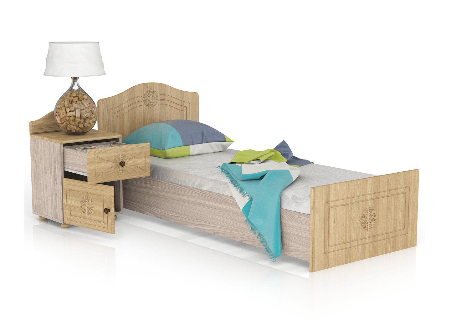 Онега Кровать 800 с основанием