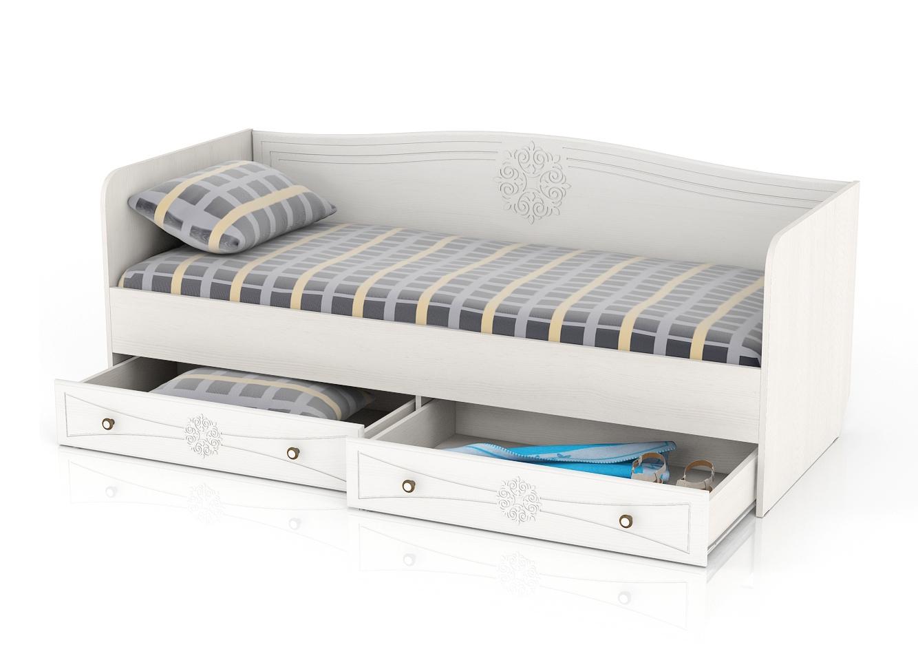 Онега Кровать 800 с ящиками