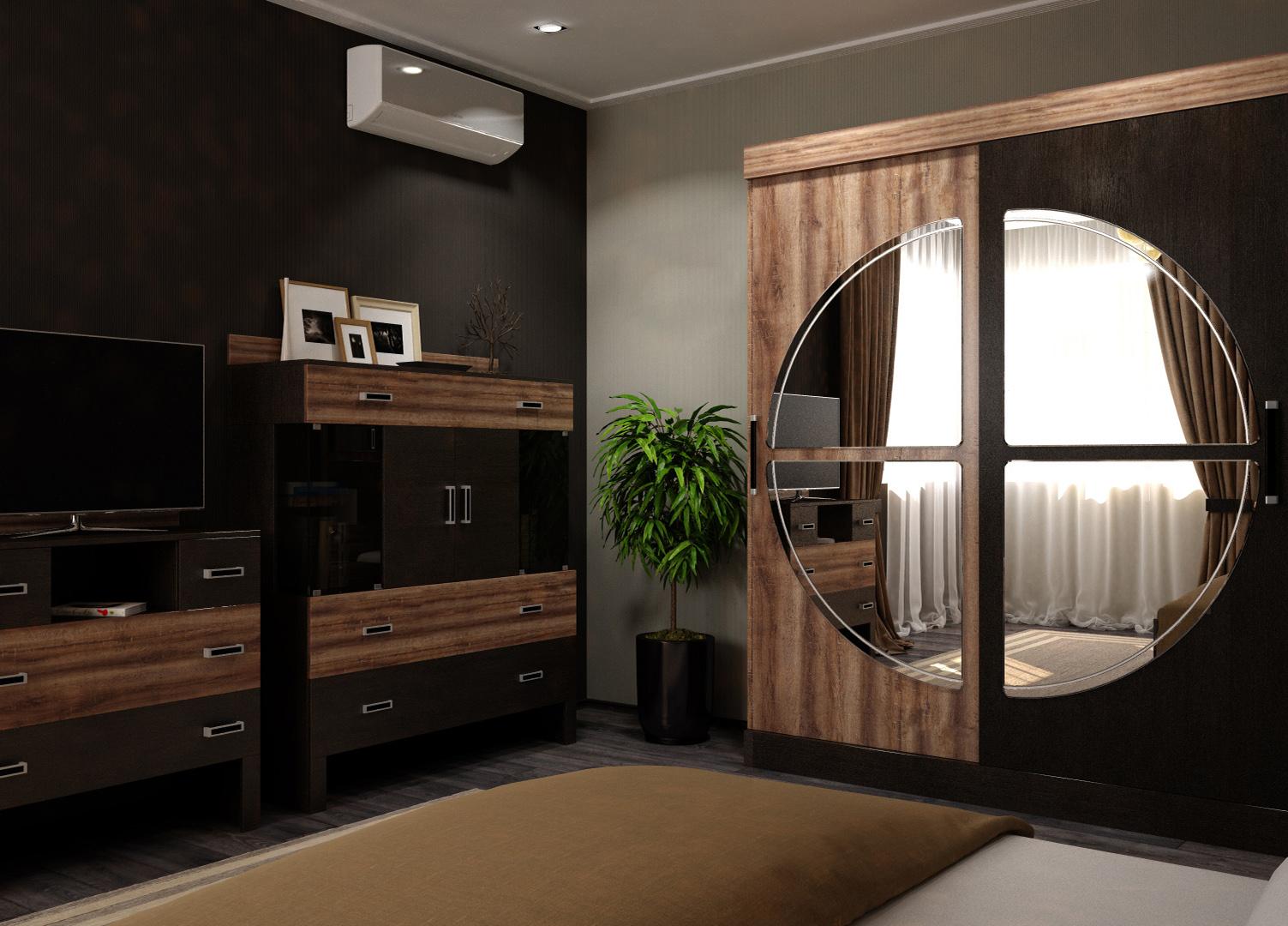 Спальня Верде Кровать с ящиками КР-160