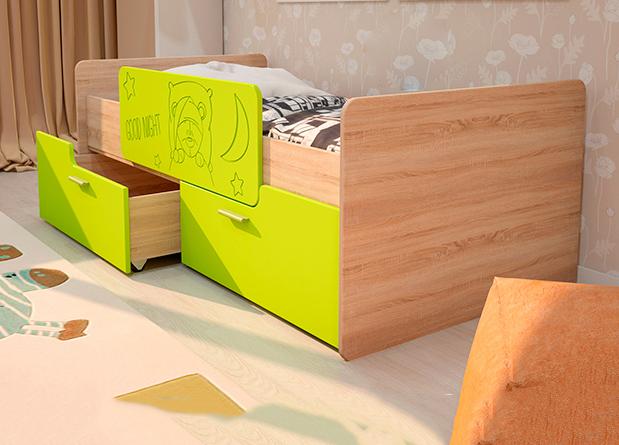 Кровать Умка с ящиками и ограничителем