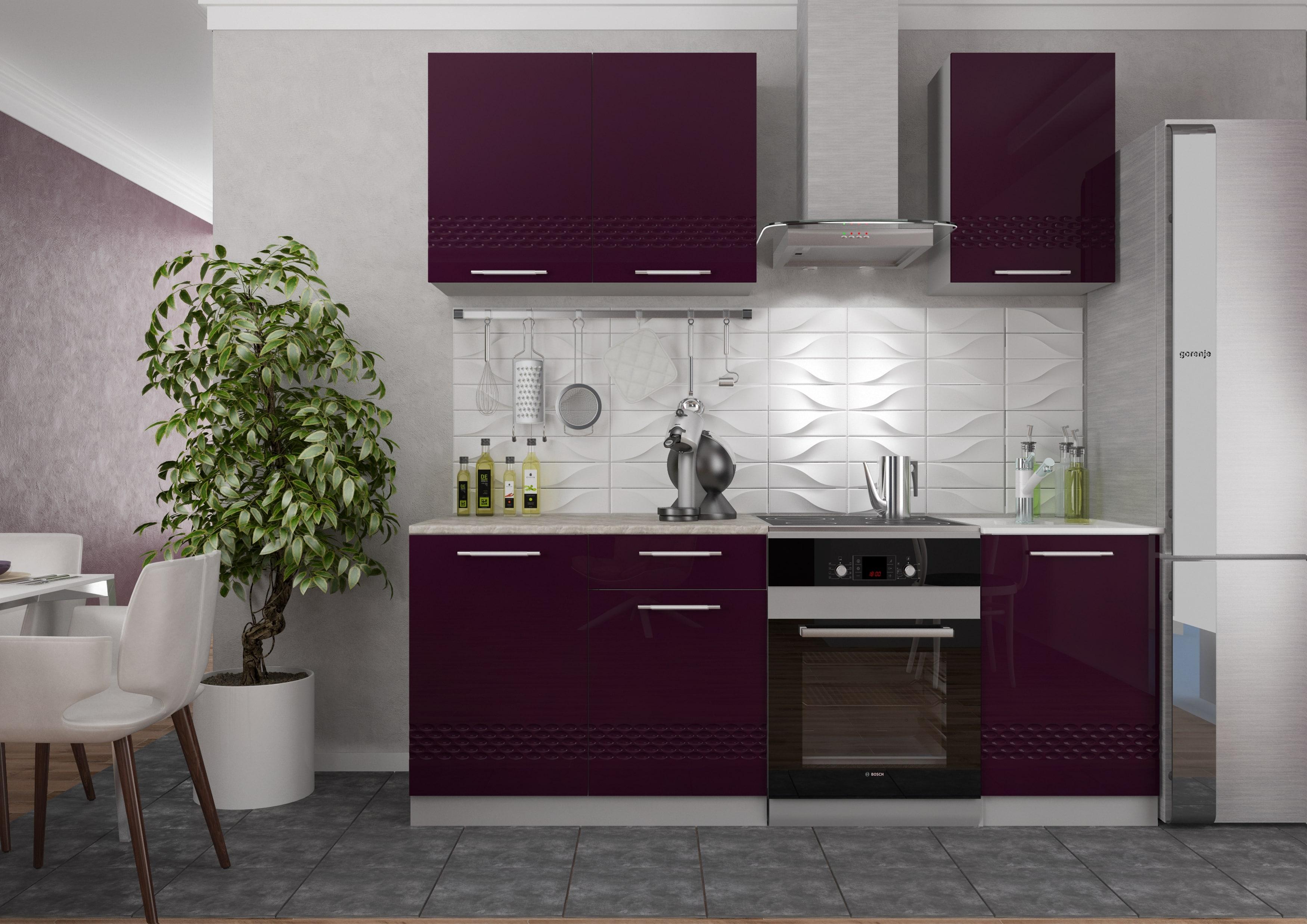 Кухня Капля 3D ПГ 800 Шкаф верхний горизонтальный