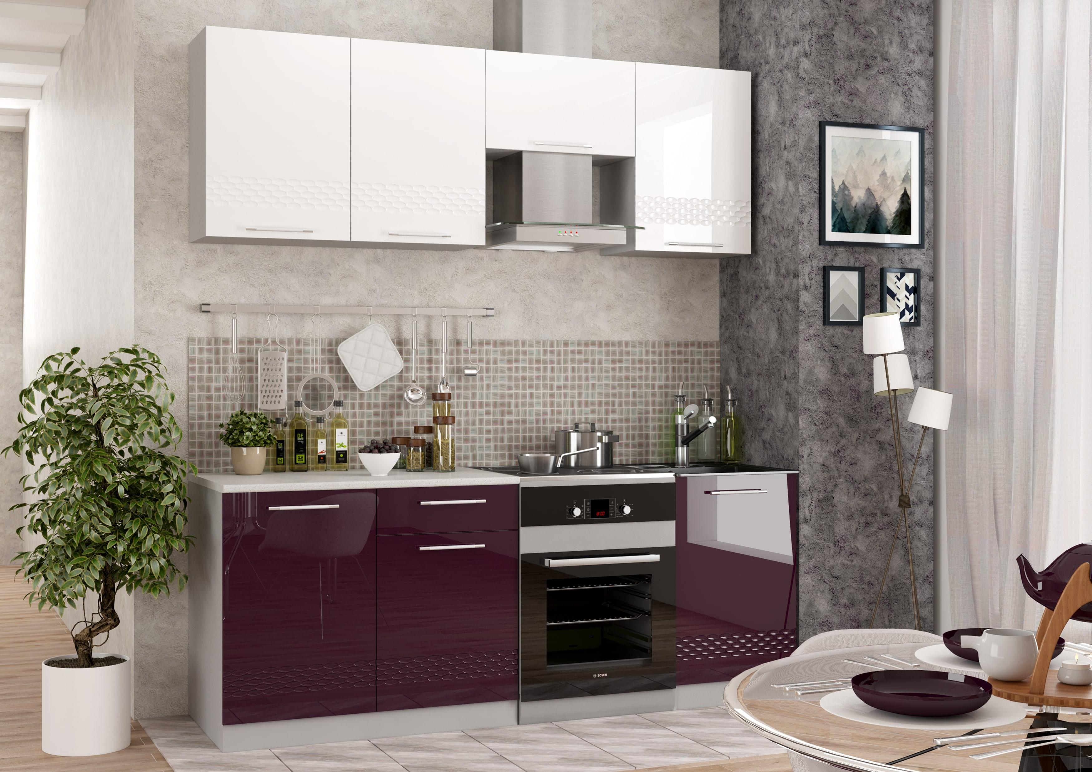 Кухня Капля 3D СМ 500 Шкаф нижний мойка петли слева