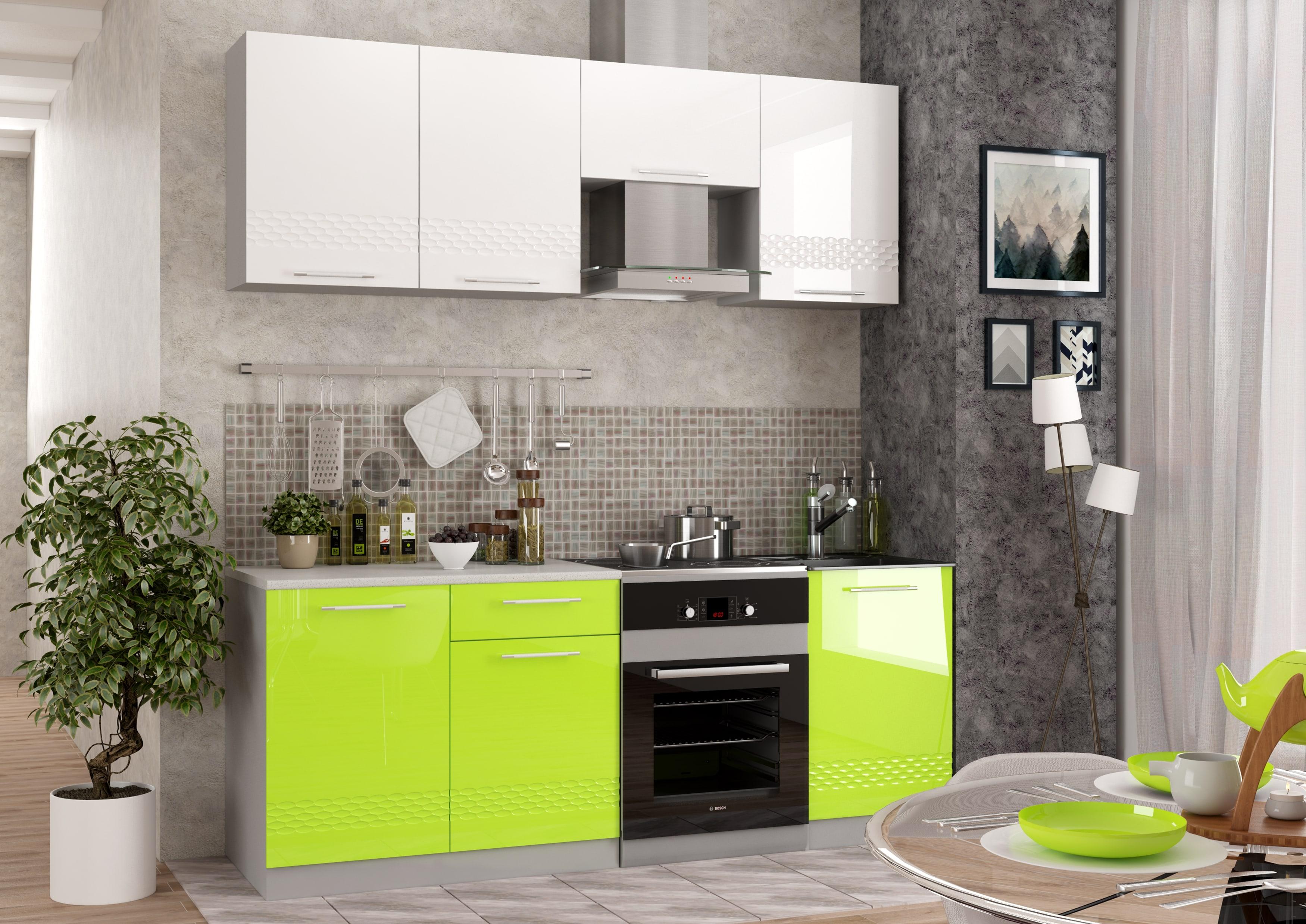 Кухня Капля 3D Шкаф верхний торцевой ПТ 400