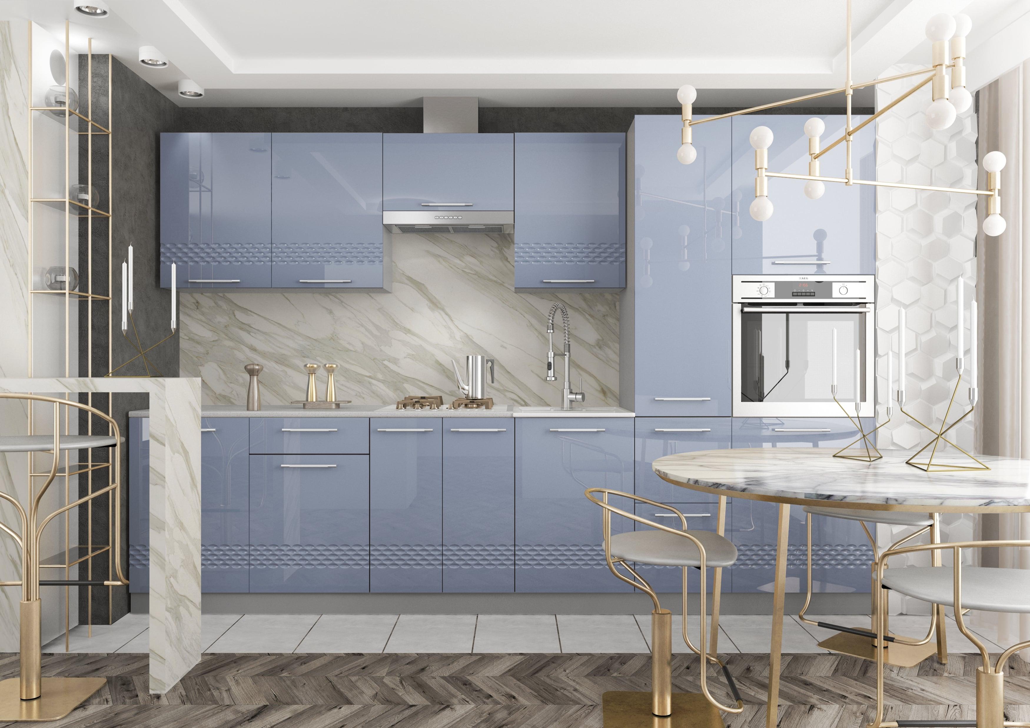 Кухня Капля 3D СУ 850*850 Шкаф нижний угловой петли слева