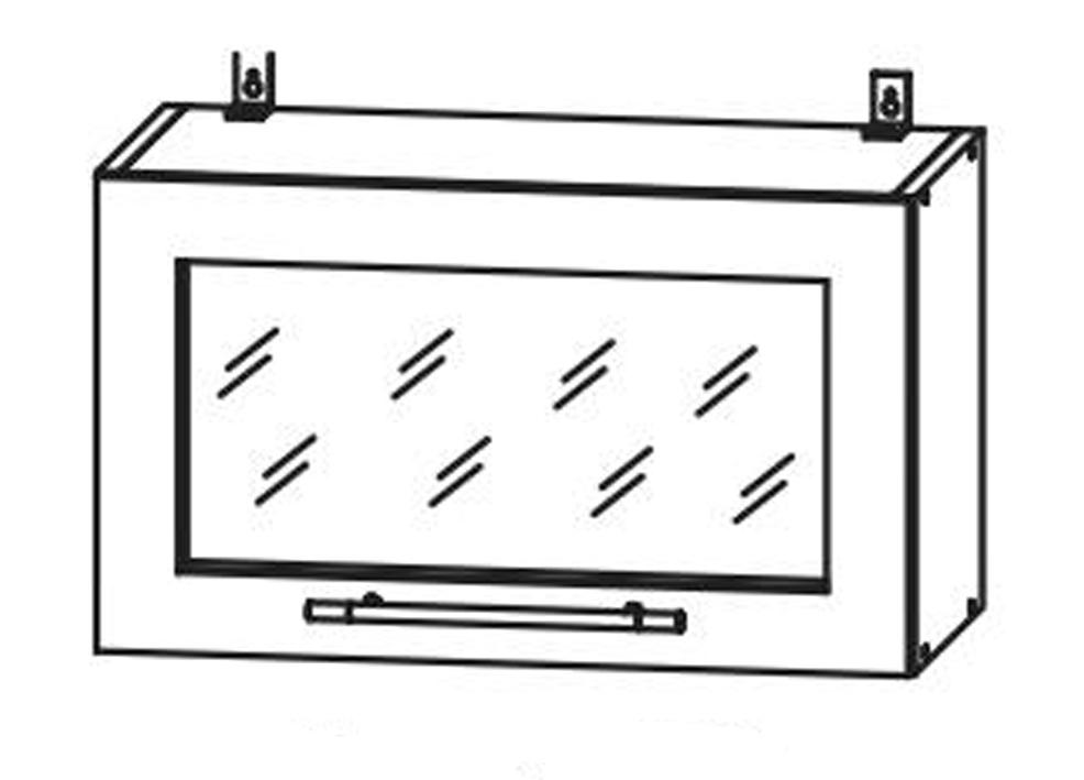 Кухня Империя Шкаф верхний ШВГС600 горизонтальный стекло