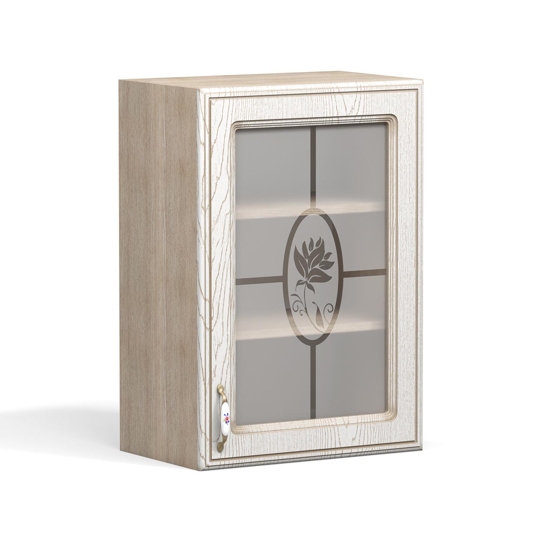 Кухня Анжелика Шкаф навесной ШКН-500 В стекло