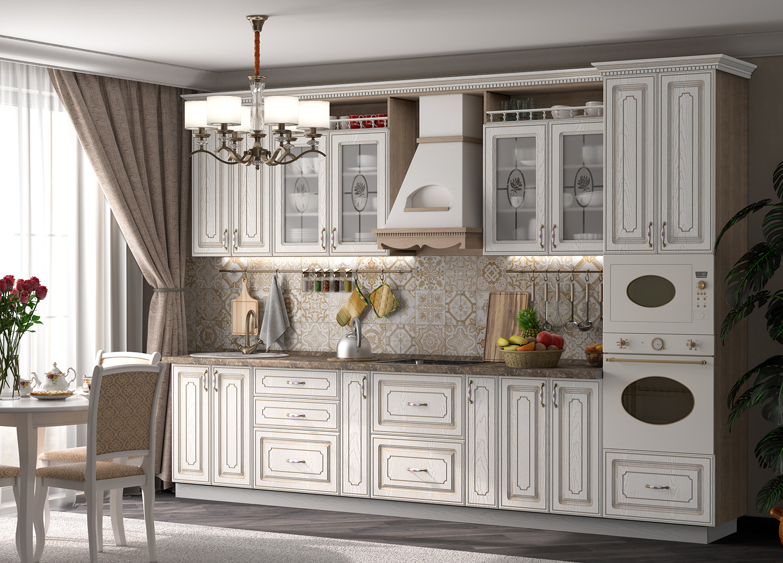 Кухня Анжелика Шкаф навесной ШКН-400П
