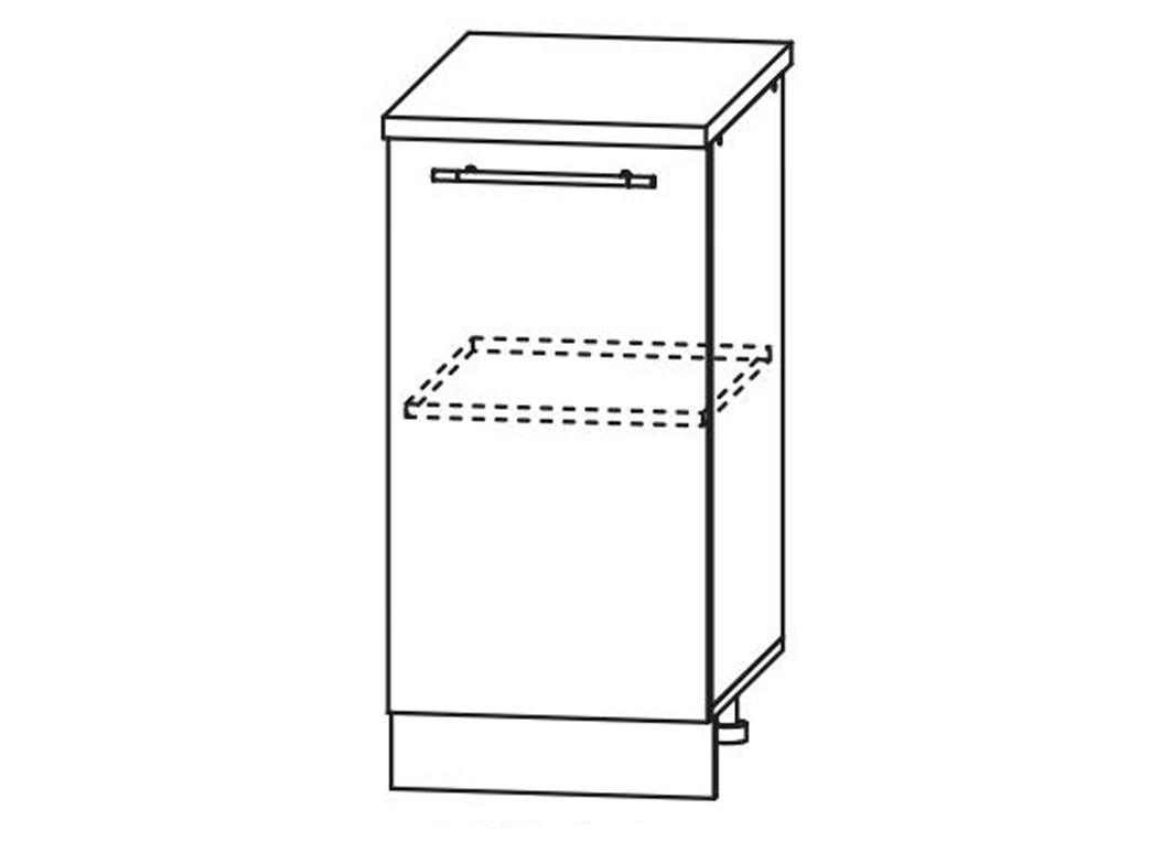 Кухня Лиза-2  Корпус нижний ШН 400