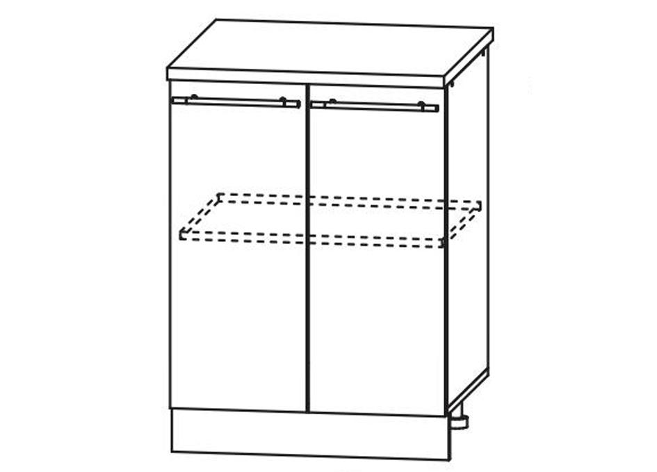 Кухня Лиза-2  Корпус нижний ШН 600