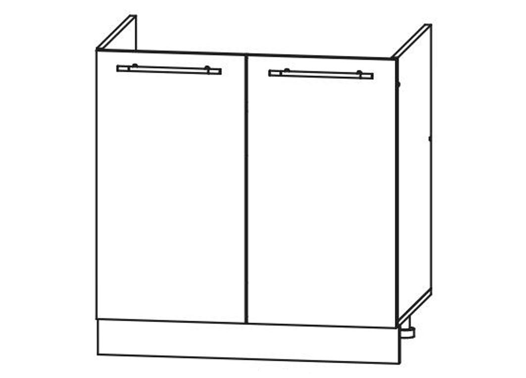 Кухня Лиза-2  Корпус нижний ШНМ 800 под мойку