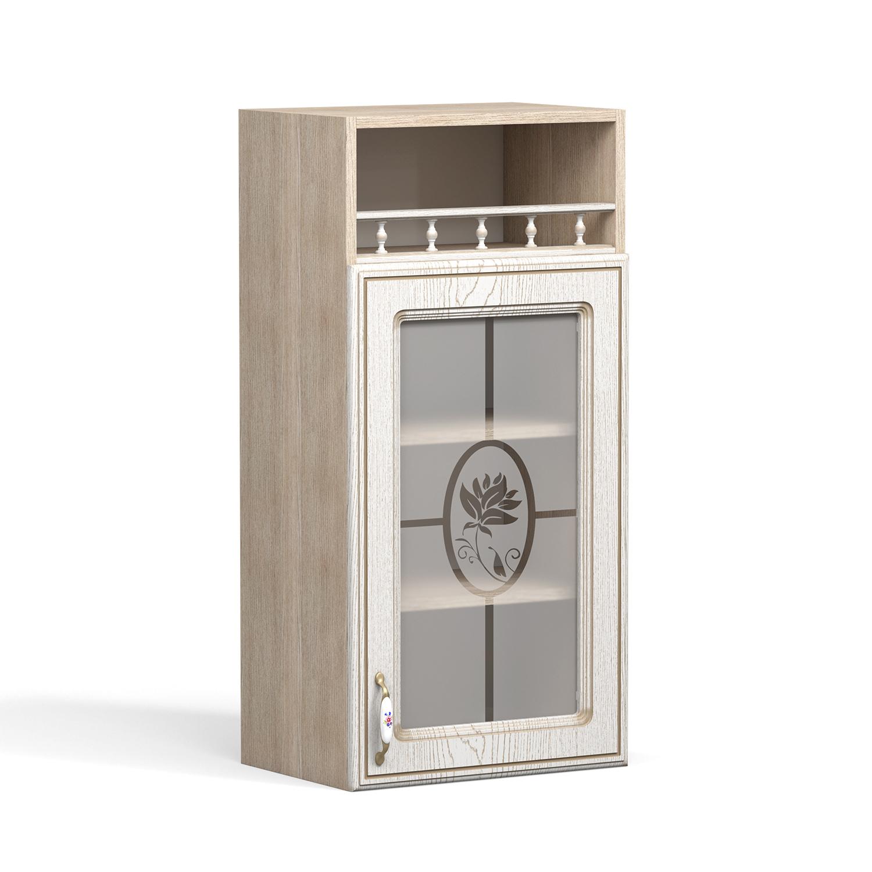 Кухня Анжелика Шкаф навесной ШКН-450ПВ стекло