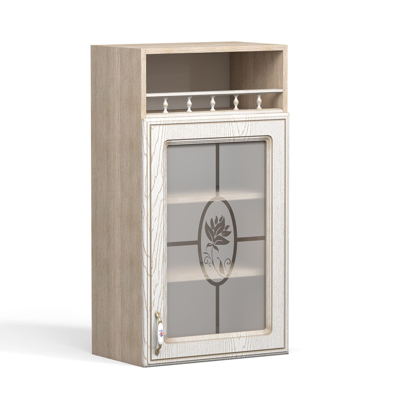 Кухня Анжелика Шкаф навесной ШКН-500ПВ стекло