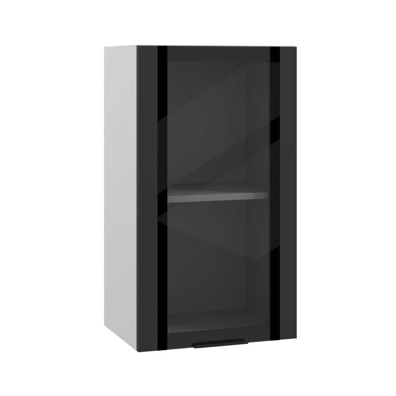 Кухня Квадро ПВС 400 Шкаф верхний стекло