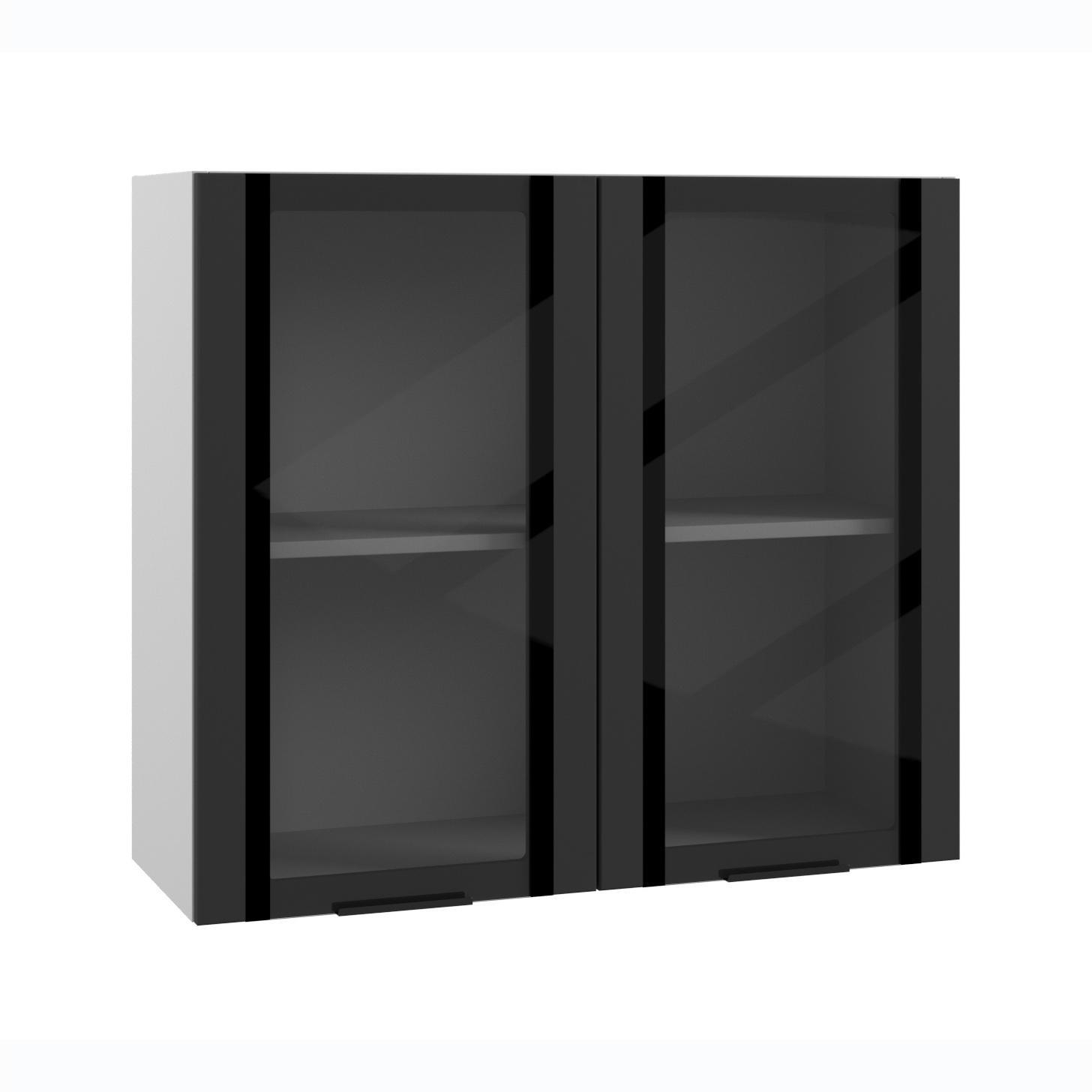 Кухня Квадро ПВС 800 Шкаф верхний стекло