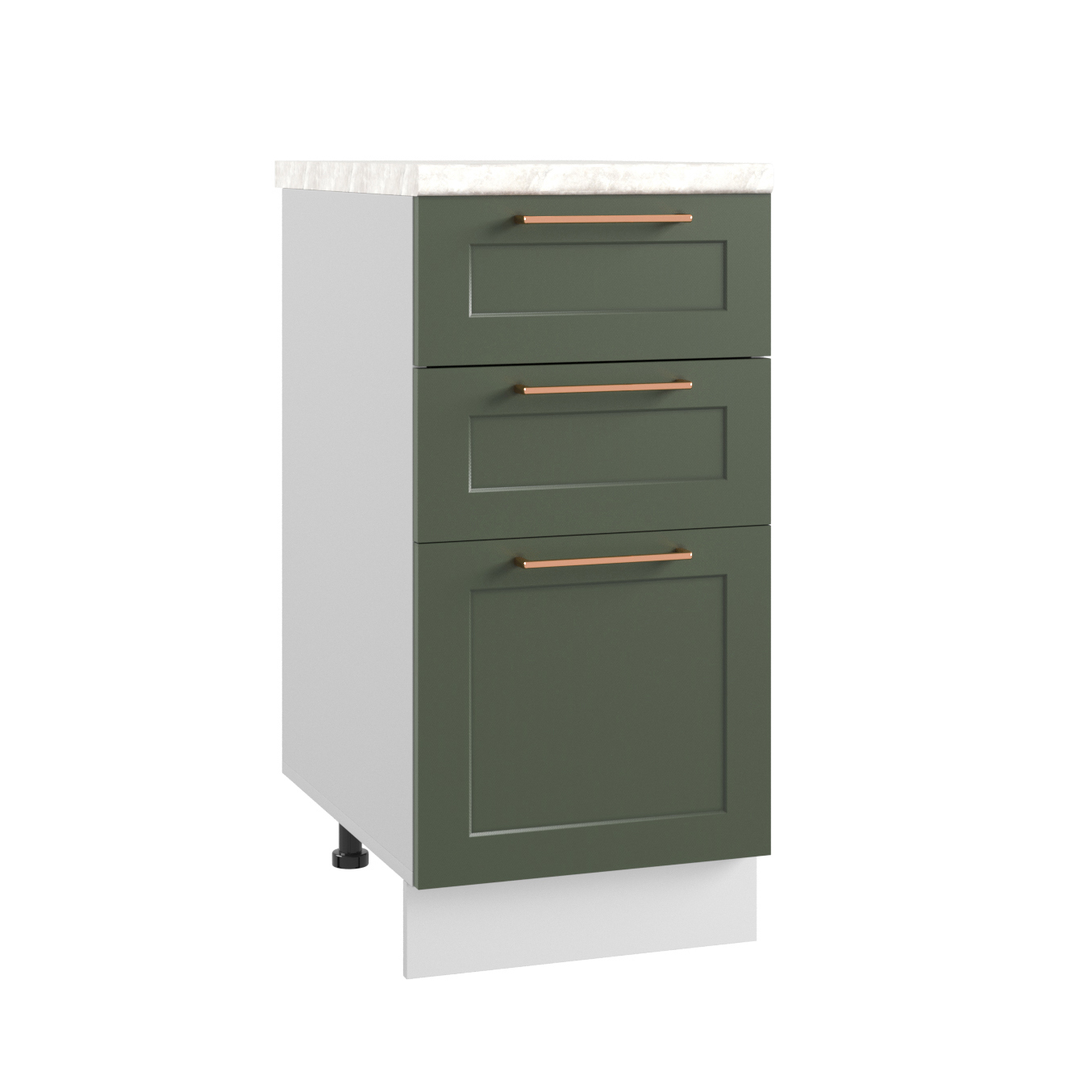 Кухня Квадро МСЯ 400 Шкаф нижний с ящиками глубина 330