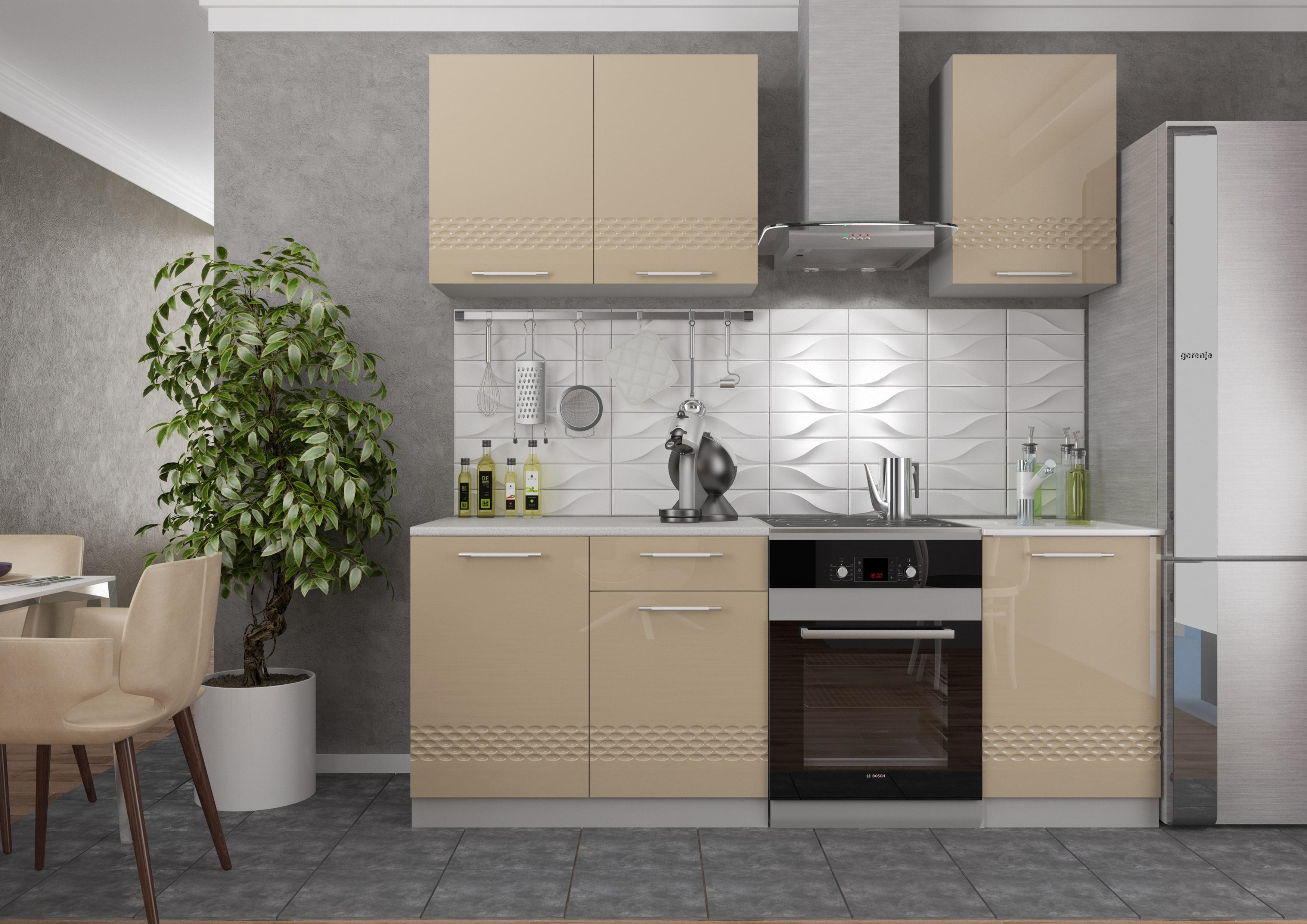 Кухня Капля 3D С1Я 400 Шкаф нижний 1 ящик петли слева