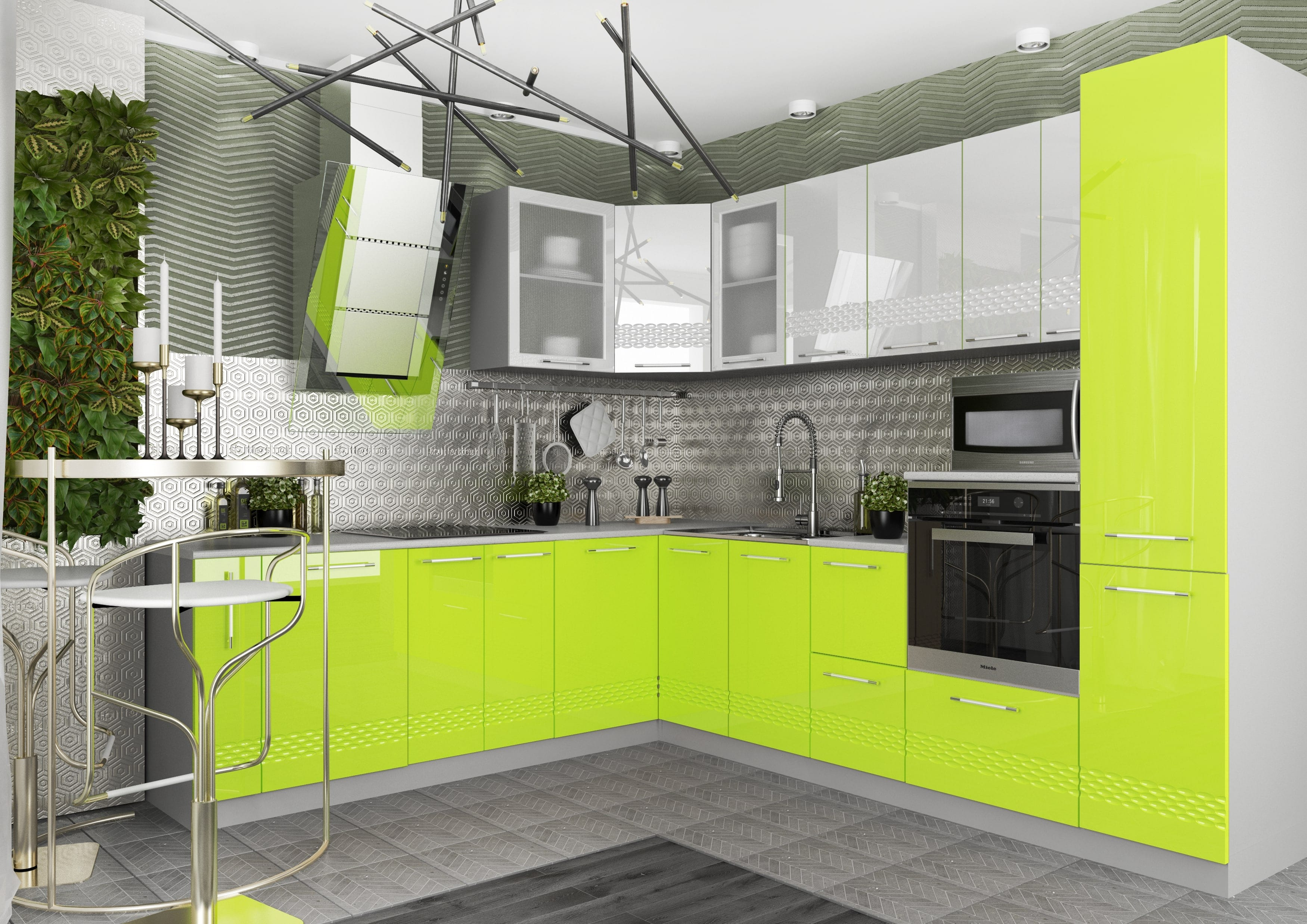 Кухня Капля 3D С 500 Шкаф нижний петли справа