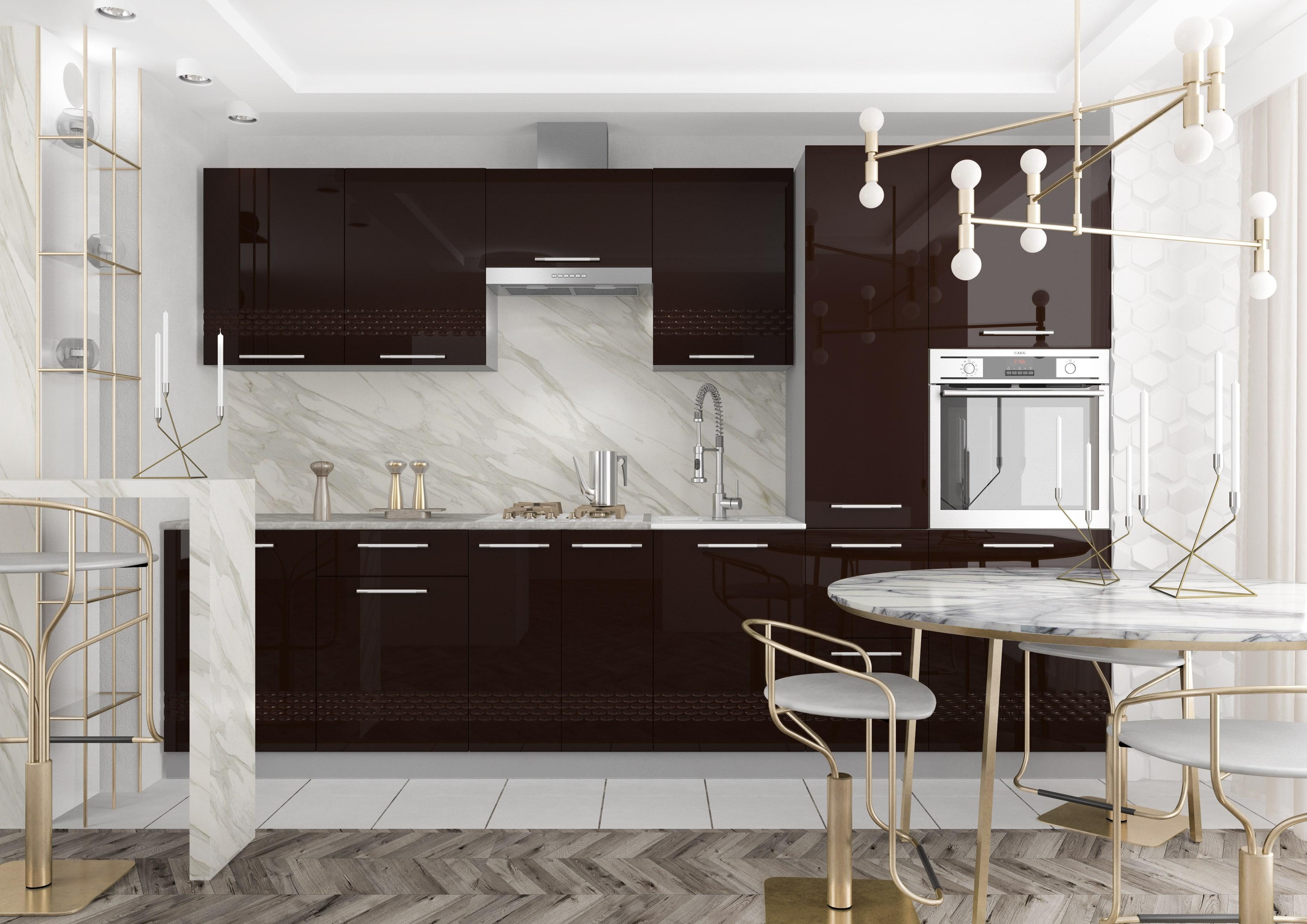 Кухня Капля 3D СУ 1000 Шкаф нижний угловой петли слева