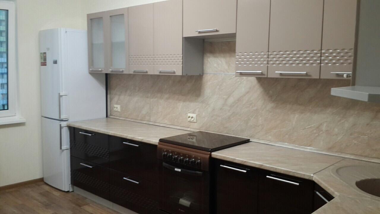 Кухня Капля 3D СУ 1050 Шкаф нижний угловой  петли слева