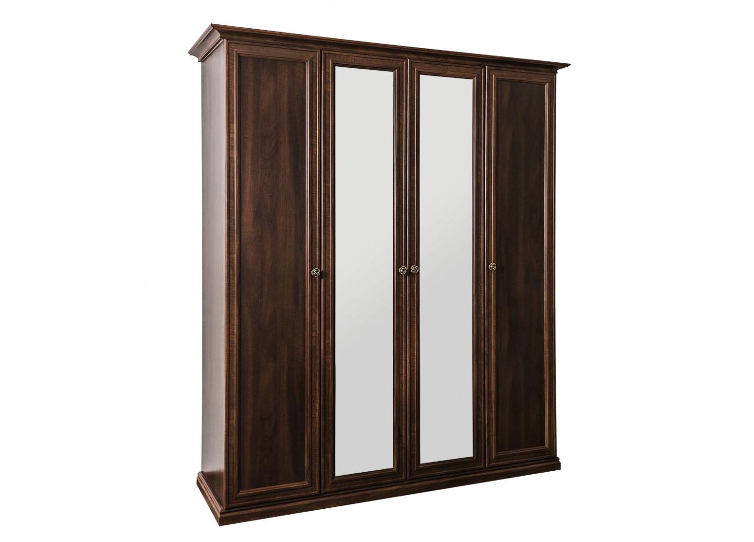 Шкаф 4-х ств (2+2) с зеркалом